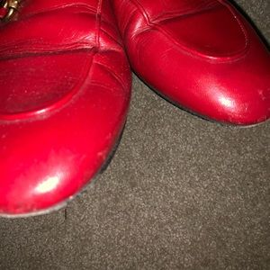 Gucci Shoes - Red Gucci Princetown mules
